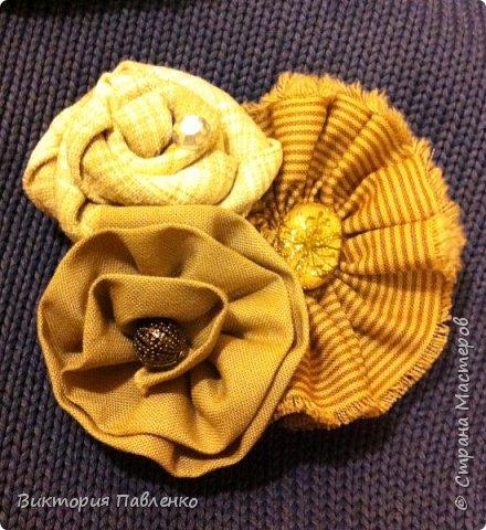 Текстильная брошь. фото 3
