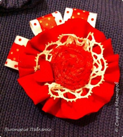 Текстильная брошь. фото 1