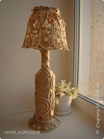 Мастер-класс Поделка изделие Моделирование конструирование Ажурная лампа  Бумага Шпагат фото 2