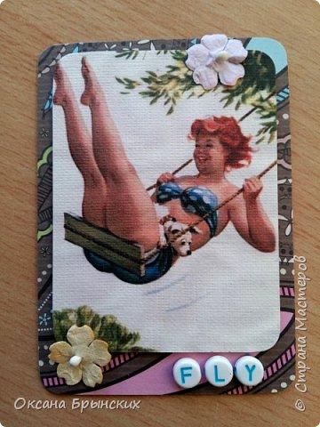 """Еще одна серия АТС-карточек по мотивам рисунков Дуэйна Брайерса, которые носят общее название """"Неунывающая Хильда"""". Это же название я оставила и для самой серии.  В серии 8 карточек. Приглашаю к обмену! фото 8"""