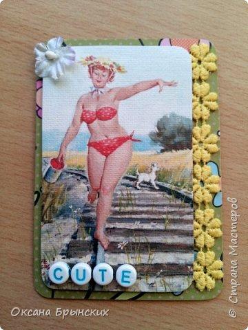 """Еще одна серия АТС-карточек по мотивам рисунков Дуэйна Брайерса, которые носят общее название """"Неунывающая Хильда"""". Это же название я оставила и для самой серии.  В серии 8 карточек. Приглашаю к обмену! фото 9"""