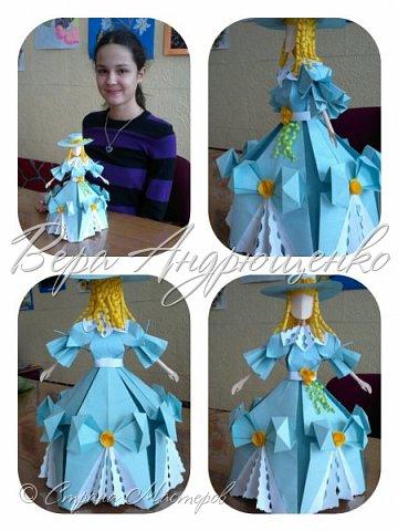 Здравствуйте, дорогие мастерицы! вот наконец -то решилась выложить мк по изготовлению куклы. Я покажу основы, из каких модулей оригами   у меня получилась кукла. Оформление ее может быть различным, исходя из ваших замыслов и фантазии. фото 1