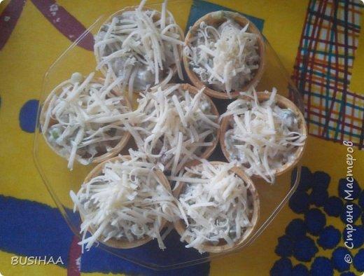Тарталетки с сельдью