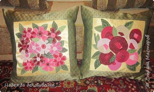 Эти подушки я сшила в подарок ко Дню Рождения. фото 1