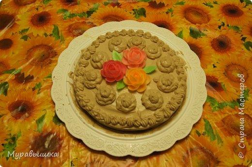 И был у меня День рождения. И сделали мы с детками такой вот тортик на скорую руку. фото 1