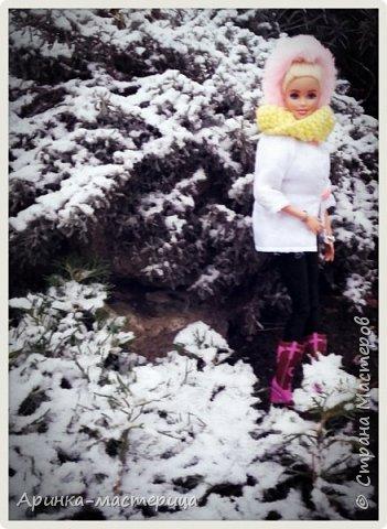 Всем привет✌ У нас недавно был снег и мы ходили фотографироваться ) Шарфик вязала сама. фото 3