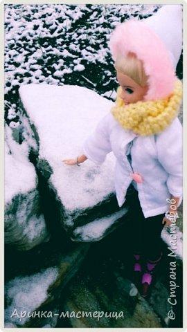 Всем привет✌ У нас недавно был снег и мы ходили фотографироваться ) Шарфик вязала сама. фото 7