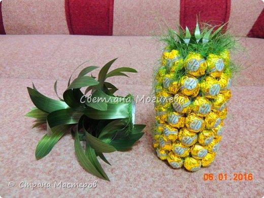 Давно хотела сделать такой ананас. И вот он мой красавчег! Сделала по мк Олеси Лисовой, за что ей большое спасибо. фото 3