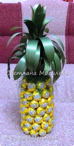 Давно хотела сделать такой ананас. И вот он мой красавчег! Сделала по мк Олеси Лисовой, за что ей большое спасибо. фото 1