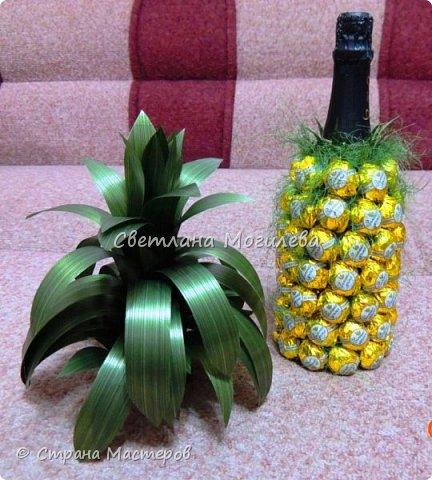 Давно хотела сделать такой ананас. И вот он мой красавчег! Сделала по мк Олеси Лисовой, за что ей большое спасибо. фото 2