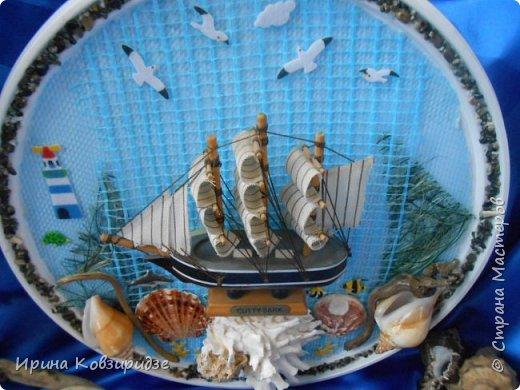 С моря я привезла много раковин. Прикупила к ним магнитов на морскую тему, собрала пластиковых крышек от ведёрок  и начала фантазировать... фото 7