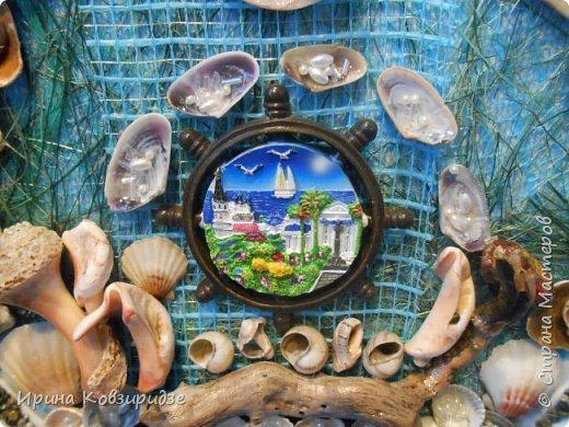 С моря я привезла много раковин. Прикупила к ним магнитов на морскую тему, собрала пластиковых крышек от ведёрок  и начала фантазировать... фото 9