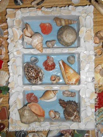 С моря я привезла много раковин. Прикупила к ним магнитов на морскую тему, собрала пластиковых крышек от ведёрок  и начала фантазировать... фото 19