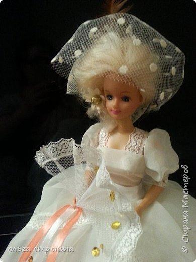Доброго времени суток, мои дорогие мастерицы СМ. Хочу поделиться еще одной новой куклой. Не судите строго. Кукла ждет свою новую хозяйку. На этот раз дамочка с веером. фото 3