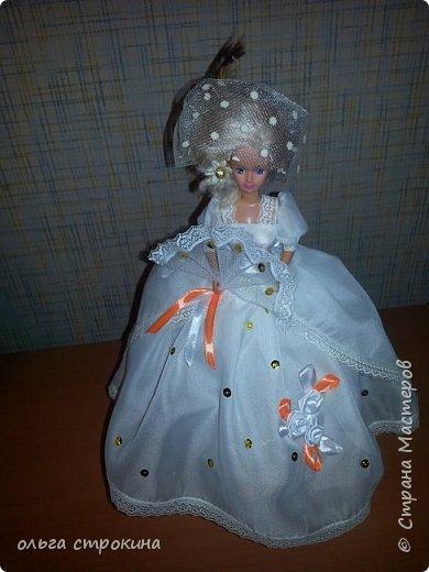 Доброго времени суток, мои дорогие мастерицы СМ. Хочу поделиться еще одной новой куклой. Не судите строго. Кукла ждет свою новую хозяйку. На этот раз дамочка с веером. фото 8