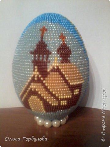 Яйцо из бисера фото 1