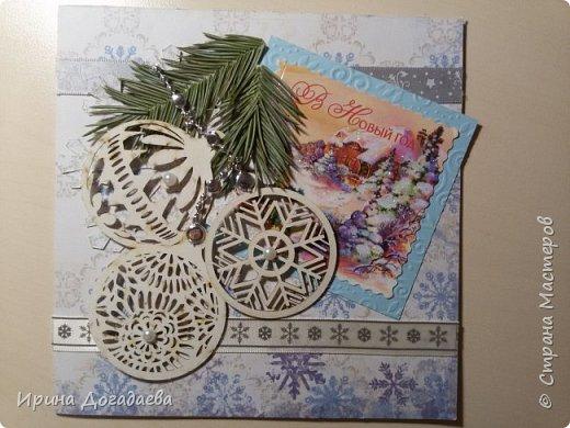Новогодние открытки, скрапбукинг  фото 1