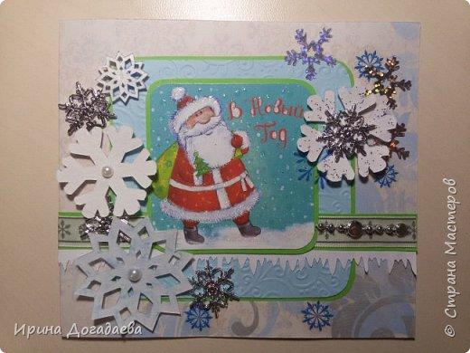 Новогодние открытки, скрапбукинг  фото 3