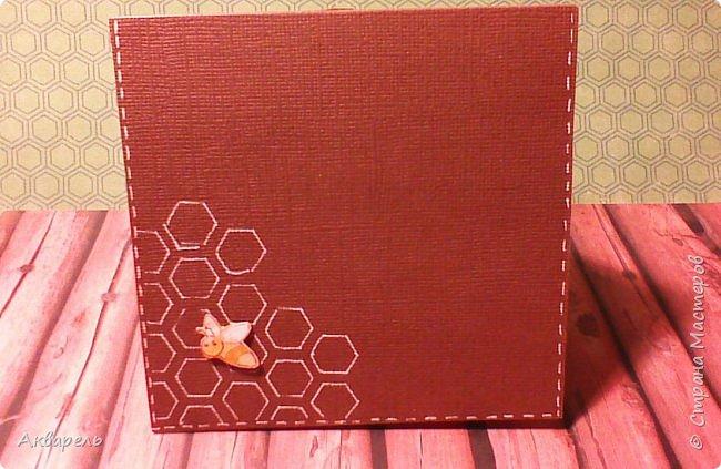 Увидела в интернете способ сложения такой открыточки, мне понравилось, что просто и быстро. Оформление придумала сама про пчелок, мне сейчас они очень нравятся. Как поздравление на какое либо торжество, праздник наверное  не пойдет, а вот как небольшой и приятный сентимент близкому человечку, самое то. фото 10