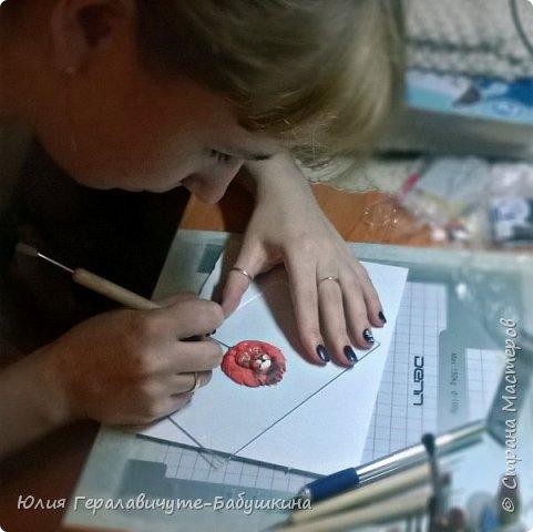 Кулон из полимерной глины, слеплен по мастер классу Ксении Емельяновой  фото 9