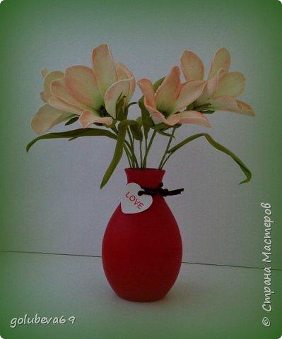 Ещё один букетик цветочков из фоамирана. фото 1