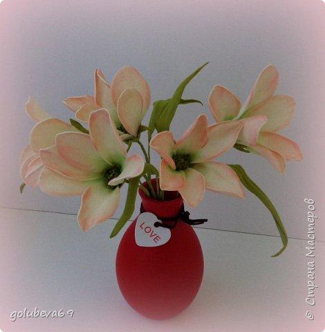 Ещё один букетик цветочков из фоамирана. фото 2