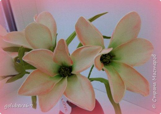 Ещё один букетик цветочков из фоамирана. фото 3