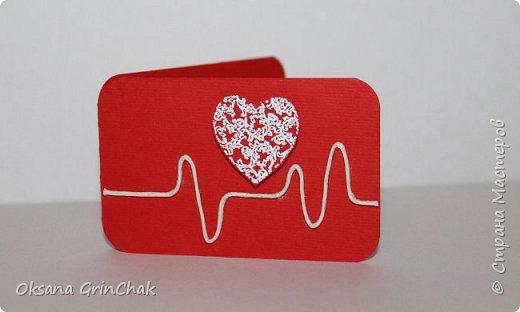 """Добрый день! Увидев открыточки """"С тобой мое сердце бьется чаще"""", не удержалась и  смастерила коллекцию разных """"Валентинок"""", вот некоторые из них.   фото 5"""