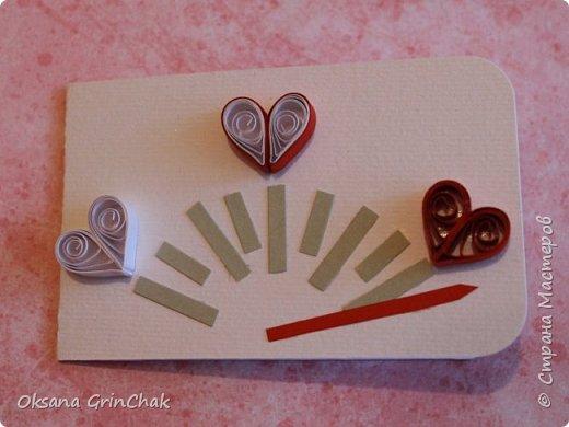 """Добрый день! Увидев открыточки """"С тобой мое сердце бьется чаще"""", не удержалась и  смастерила коллекцию разных """"Валентинок"""", вот некоторые из них.   фото 9"""