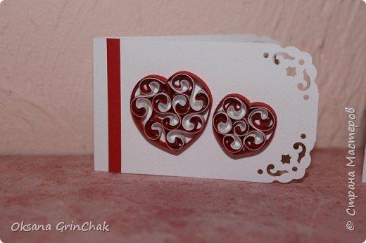 """Добрый день! Увидев открыточки """"С тобой мое сердце бьется чаще"""", не удержалась и  смастерила коллекцию разных """"Валентинок"""", вот некоторые из них.   фото 3"""