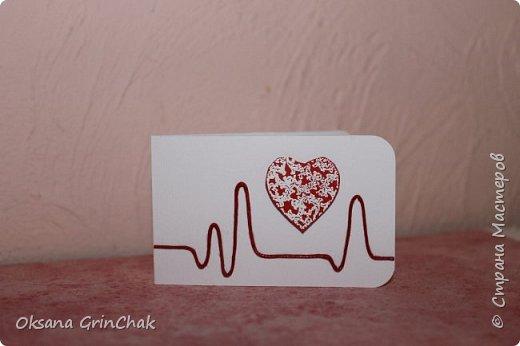 """Добрый день! Увидев открыточки """"С тобой мое сердце бьется чаще"""", не удержалась и  смастерила коллекцию разных """"Валентинок"""", вот некоторые из них.   фото 6"""