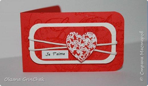 """Добрый день! Увидев открыточки """"С тобой мое сердце бьется чаще"""", не удержалась и  смастерила коллекцию разных """"Валентинок"""", вот некоторые из них.   фото 1"""