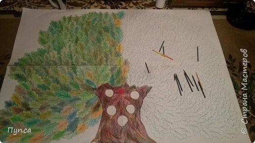 На урок моему сынульке было задание подготовить рассказ о своей семье. Давно была задумка создать Семейное Древо, и вот он - СЛУЧАЙ! Наш ДУБ! фото 4