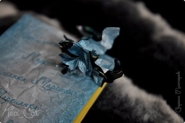 """Доброго Времени суток, Жители Страны Мастеров. Я сдаю работу на конкурс """"Загадочный блокнот"""". Я сделала блокнот, но у меня появилось вдохновение. Поэтому я сделала еще и платье. Всё выполнено из конфет """"Марсианка"""". Уж очень я их люблю) фото 7"""