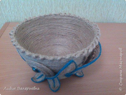 Вазочка из джута. фото 2