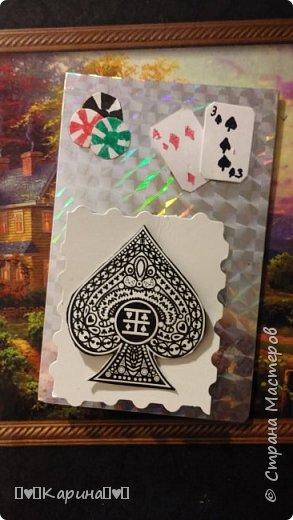 """Здравствуйте! Сегодня я покажу Вам мои самые первые карточки! Серия """"Покер""""  Самая первая  фото 1"""