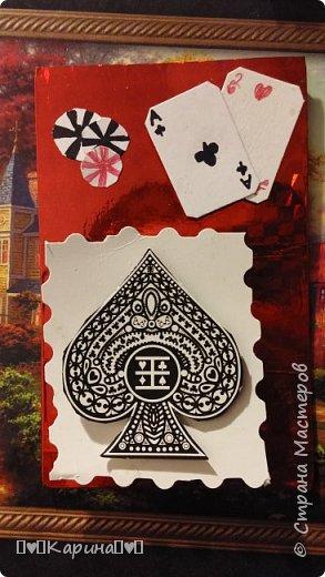 """Здравствуйте! Сегодня я покажу Вам мои самые первые карточки! Серия """"Покер""""  Самая первая  фото 3"""