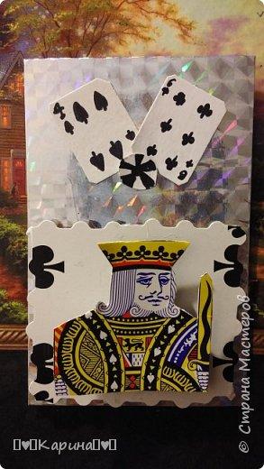 """Здравствуйте! Сегодня я покажу Вам мои самые первые карточки! Серия """"Покер""""  Самая первая  фото 2"""