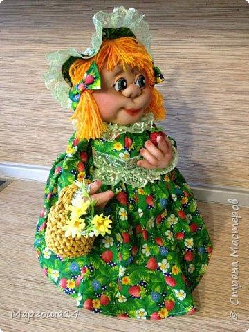 Кукла - грелка на чайник Дарьюшка. Добрая, хозяйственная, всегда позаботится ,чтобы чай был горячим))) фото 6