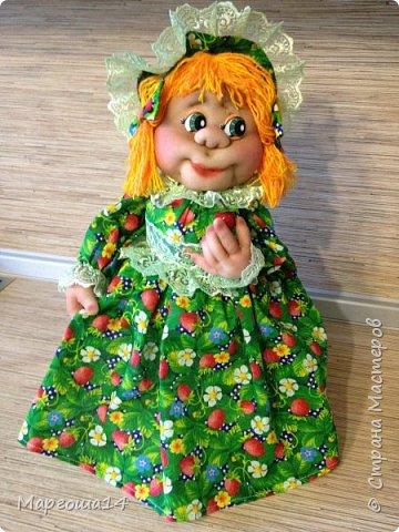 Кукла - грелка на чайник Дарьюшка. Добрая, хозяйственная, всегда позаботится ,чтобы чай был горячим))) фото 2