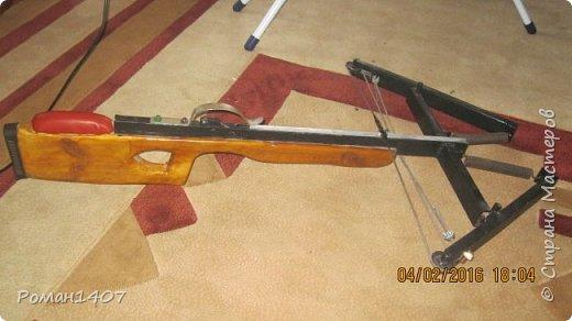 Арбалет для спортивной стрельбы с дерева и метала фото 1