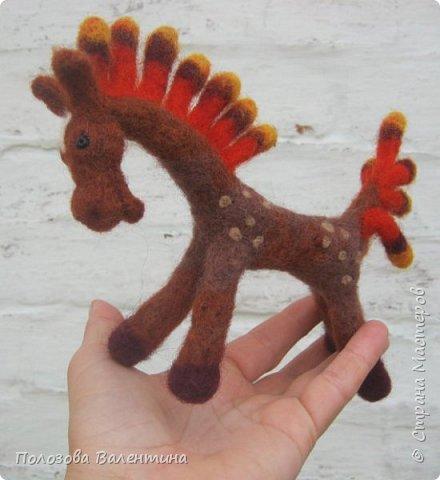 Лошадка из шерсти, валяние. фото 2