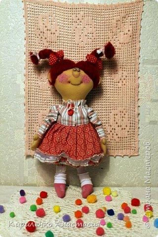 Добрый вечер! Родилась новая моя куколка. Ириска. Почему такое имя - не знаю. Лежала, лежала и появилась. Долго лежала, стала стыдно мне и приняла она наконец-то законченный образ. фото 2