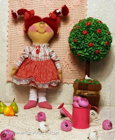 Добрый вечер! Родилась новая моя куколка. Ириска. Почему такое имя - не знаю. Лежала, лежала и появилась. Долго лежала, стала стыдно мне и приняла она наконец-то законченный образ. фото 5