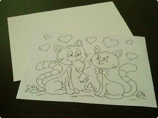 Милые котики.....такую работу можно сделать с детьми. Кому интересно расскажу как. фото 2