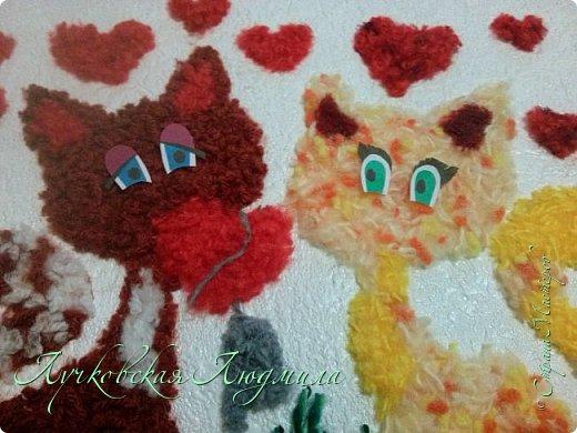 Милые котики.....такую работу можно сделать с детьми. Кому интересно расскажу как. фото 26