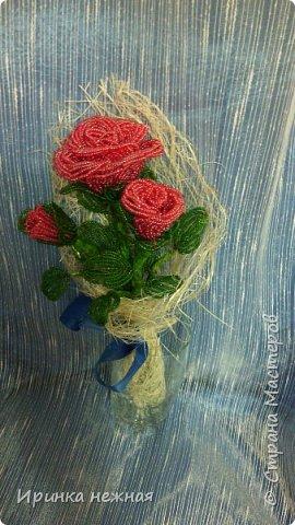 Букеты роз из бисера фото 1
