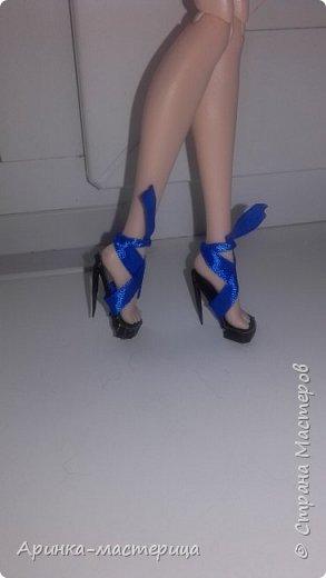 Всем приветик✌ Сегодня я решила сделать туфельки для Блонди. Вот что у меня подучилось) фото 2