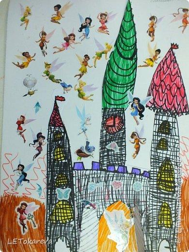 Здравствуйте! Нашим девочкам, и мальчикам очень понравилось рисовать замки. Вот что у нас получилось... фото 8