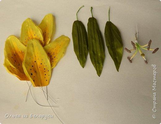 Приветствую всех гостей моего блога! Я уже рассказала как делаю тычинки и пестик для лилий,как окрашиваю лепестки и вот осталось показать сборку цветка. В этом мастер-классе я покажу свои наработки,а также классический пример создания лилий. В лилиях я новичок,только учусь,это мои первые пробы пера и если кто-то найдет что-то полезное для себя,то буду рада! фото 24